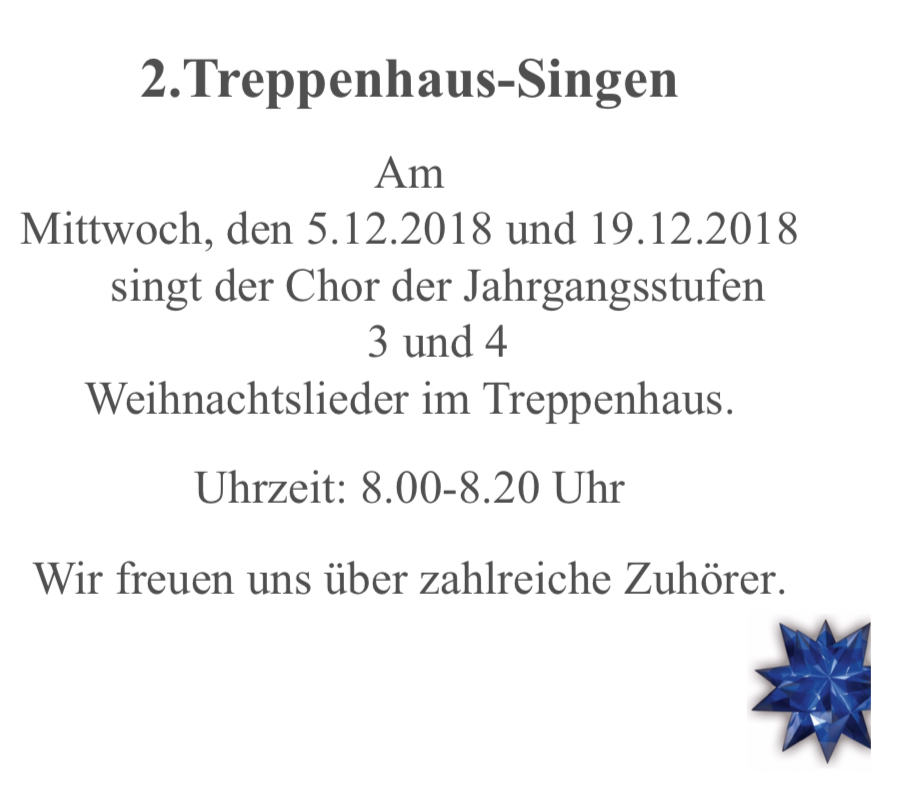 Treppenhaussingen II
