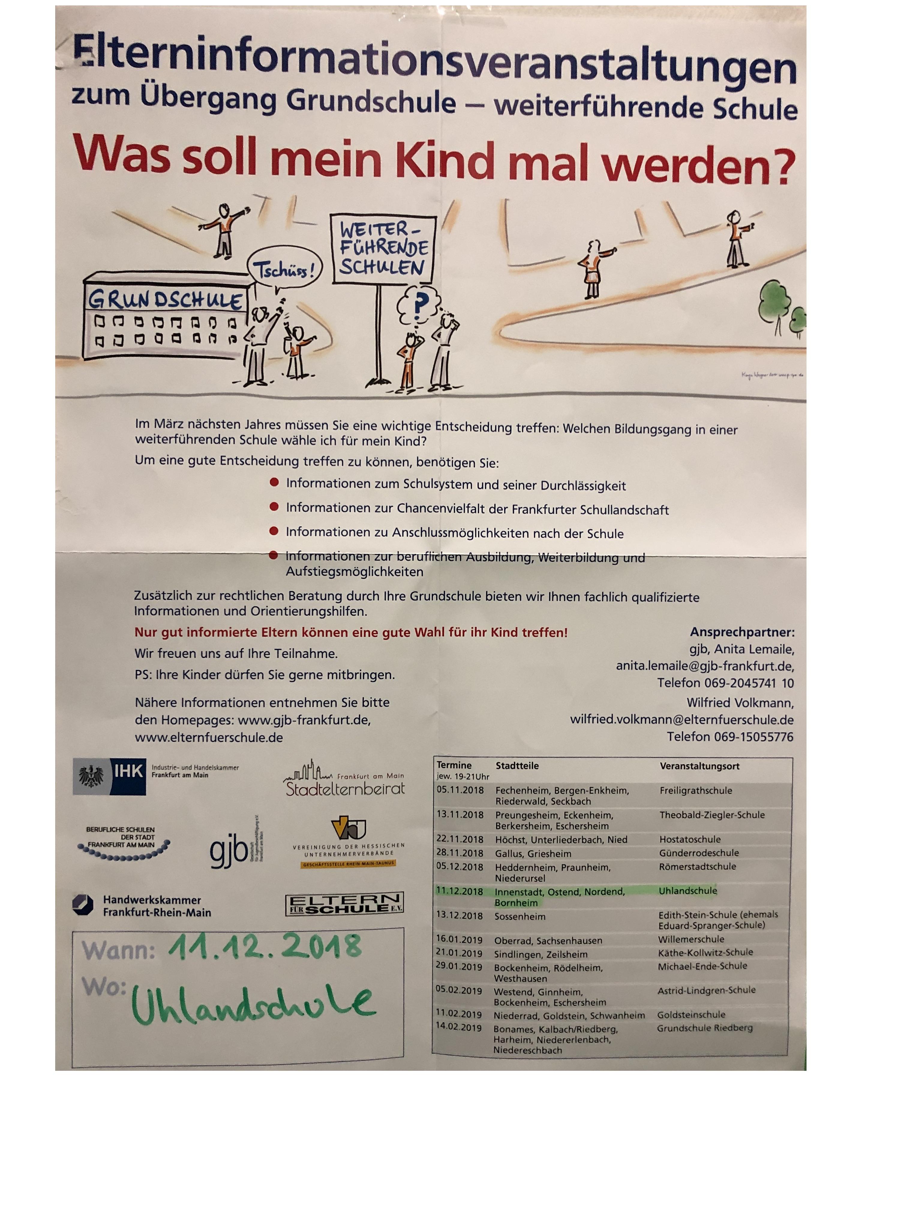 Tag der offenen Tür - Georg-Büchner-Schule (IGS) @ Bockenheim