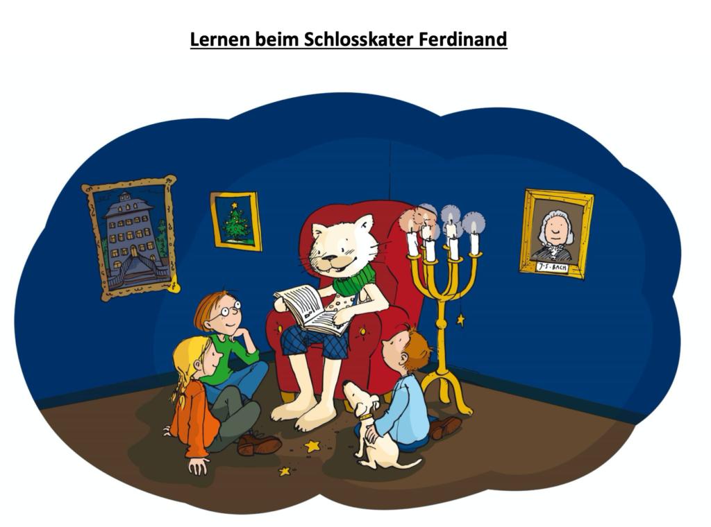 Lernen beim Schlosskater Ferdinand