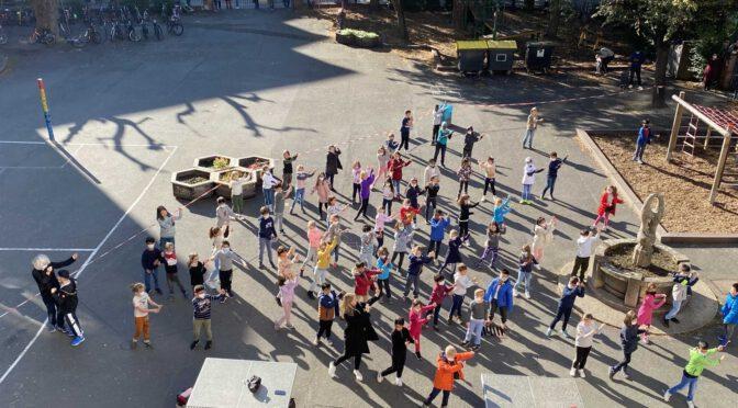 Flashmob am letzten Schultag